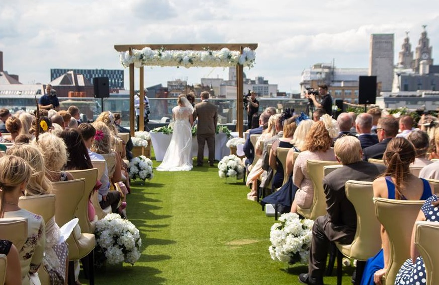 wedding venues in Liverpool with outdoor space