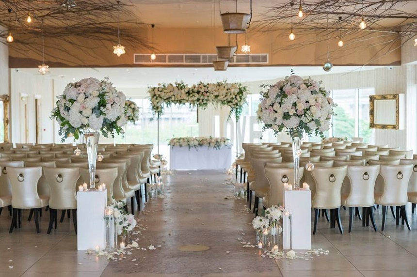 Indoor Garden of Eden wedding ceremony