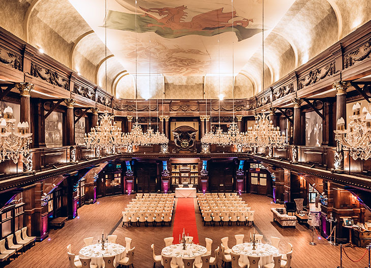 The Grand Hall at The Exchange Hotel