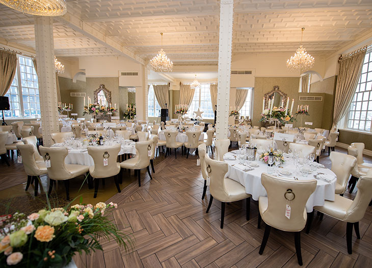 White Star Grand Hall at 30 James Street set for a wedding